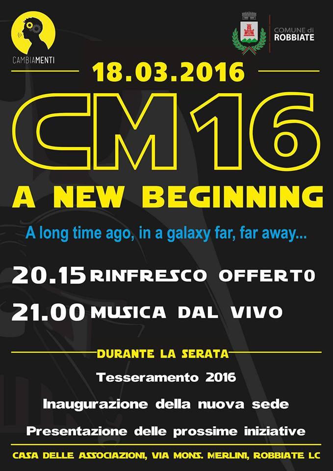CM16 a new beginning
