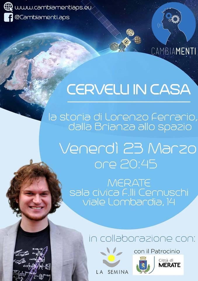 La storia di Lorenzo Ferrario, dalla Brianza allo spazio